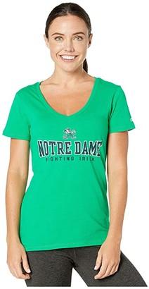 Champion College Notre Dame Fighting Irish University V-Neck Tee (Navy 4) Women's T Shirt