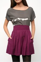 Solid Smocked Waistband Skirt