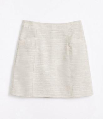 LOFT Petite Shimmer Pocket Shift Skirt