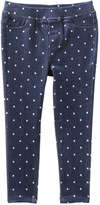 Joe Fresh Toddler Girls' Polka Dot Jegging, Dark Wash (Size 5)