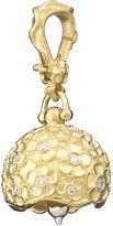 Paul Morelli 18k #2 Hydrangea & Diamond Meditation Bell Pendant