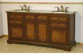 """Silkroad Exclusive York 72"""" Double Bathroom Vanity Set Top"""