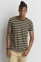 American Eagle Outfitters AE Stripe Pocket Crew T-Shirt