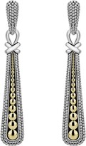 Lagos Signature Caviar Mixed Metal Drop Earrings
