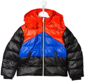 Diesel Colour-Block Quilted Jacket