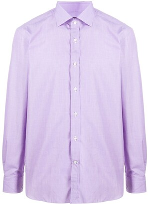 Ralph Lauren Purple Label Aston long-sleeved cotton shirt