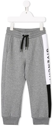 Givenchy Kids logo stripe track trousers