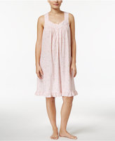 Charter Club Ribbon-Trimmed Printed Cotton Nightgown, Only at Macy's