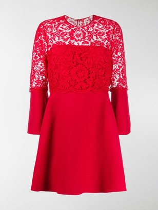 Valentino Lace Detail Short Dress