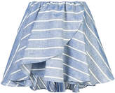 Caroline Constas Crossover striped mini skirt