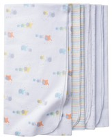 Gerber Babys' 4 Pack Flannel Blanket Set Elephants
