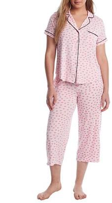 Kate Spade Pucker Up Modal Cropped Pajama Set
