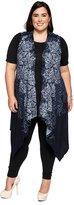 Hadari Women's Plus Size Open Front Asymmetric Long Cardigan Sweater Vests