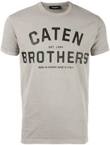 DSQUARED2 Caten Brothers T-shirt - men - Cotton - XS