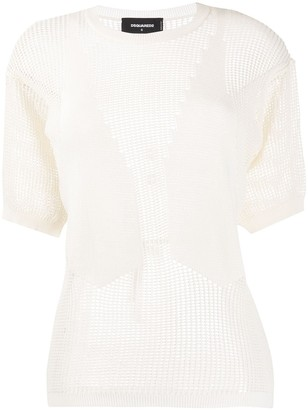 DSQUARED2 Waistcoat Knitted Top