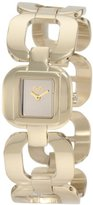 Dolce & Gabbana Women's DW0712 Bbq Round Square Case Gold Dial Watch