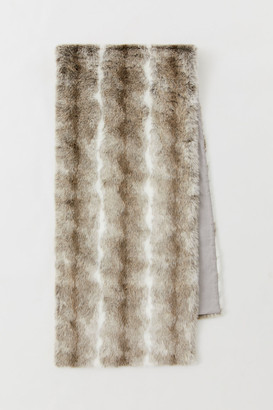 H&M Faux Fur Bed Runner - Gray