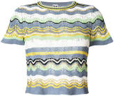 M Missoni short sleeve knitted top