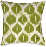 Bed Bath & Beyond Colored IKats 4 Square Outdoor Throw Pillow in Green