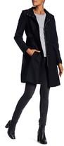 Via Spiga Herringbone Stand Up Collar Coat