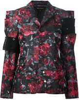 Comme des Garcons flowers jacquard jacket - women - Polyester/Silk - S