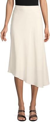 Lafayette 148 New York Asymmetrical Silk Midi Skirt