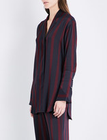 By Malene Birger Fridari striped satin shirt