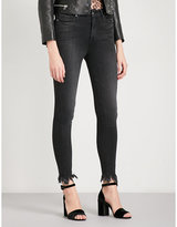 Good American Good Waist Jagged Fray skinny ultra high-rise jeans
