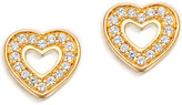 Astley Clarke Mini heart 18ct yellow gold-plated stud earrings