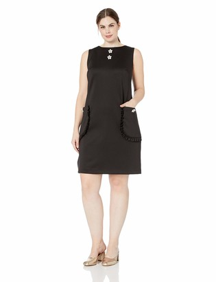 Betsey Johnson Women's Plus Size Scuba Shift Dress