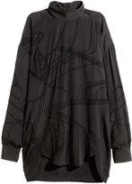 H&M Beaded Blouse - Black - Ladies