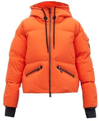 Moncler Airy Down Filled Shell Ski Jacket - Womens - Orange