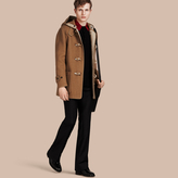 Burberry Felted Wool Blend Duffle Coat
