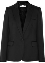 Stella McCartney Ingrid Wool-piqué Blazer - Black