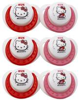 NUK Hello Kitty Orthodontic Silicone Pacifier Size 2, 6 Pack