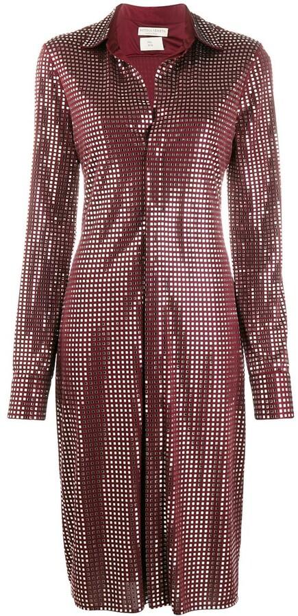 Bottega Veneta mirror embellished button-up dress