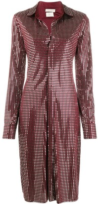 Bottega Veneta Mirror Embellished Button-Up Dress
