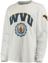 Unbranded Women's White West Virginia Mountaineers Edith Long Sleeve T-Shirt