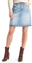 Gap 1969 Denim Let-Down Hem Skirt