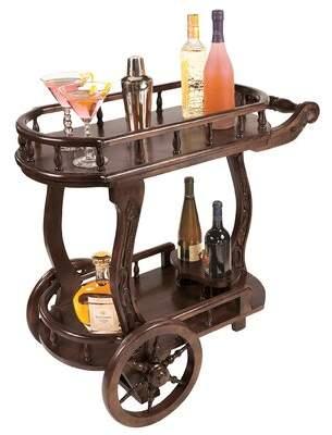 Toscano Design Pemberton Cordial Caddy Bar Cart Design