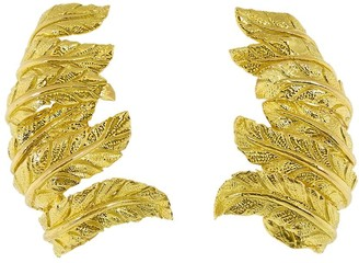 Verdura 18kt Yellow Gold Feather Ear Cuffs