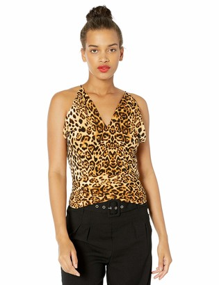 J.o.a. Women's Sleeveless Halter Knit Cami Top