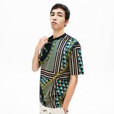 Lacoste Men's LIVE Scarf-Print Cotton T-Shirt
