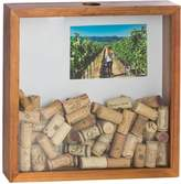 Bey-Berk Cork Shadow Box with Picture Frame (4x6)