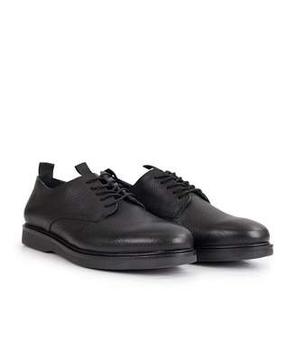 H By Hudson Barnstable Leather Derby Shoes Colour: BLACK, Size: UK 7