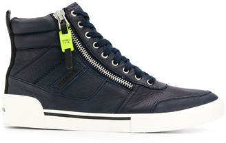 Diesel Panelled High-Top Sneakers