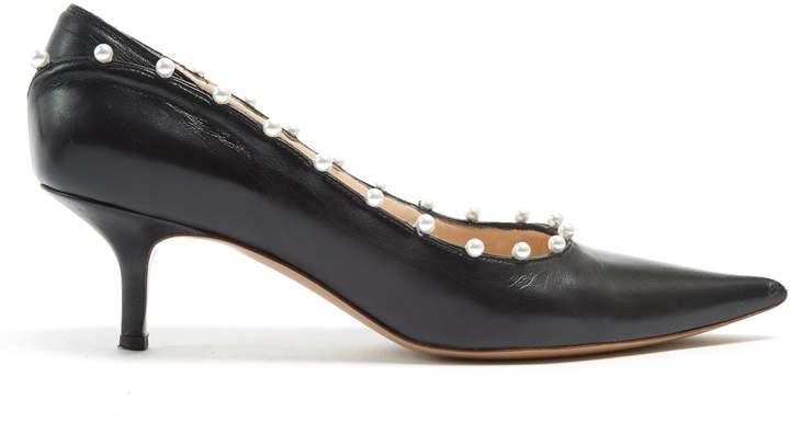 Altuzarra Elliot faux-pearl embellished leather pumps
