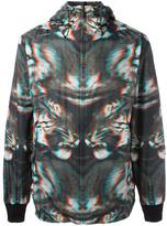 Marcelo Burlon County of Milan zipped hooded jacket - men - Polyamide/Polyester - L