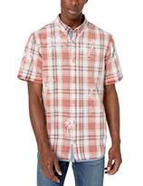 Buffalo David Bitton Men's Short sleevelight Plaid Shirt