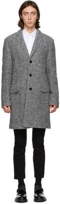 HUGO BOSS Grey Wool Migor Coat